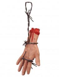 Hand med taggtråd - Halloweendekoration