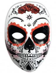 Vacker Dia de los Muertos-mask för vuxna till Halloween