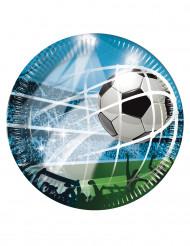 8 tallrikar med fotbollstryck 23cm