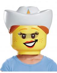 Cowgirl mask från Lego® för barn