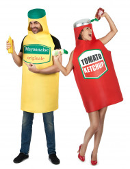 Par i Ketchup och majonnäs - Maskeraddräkt för par