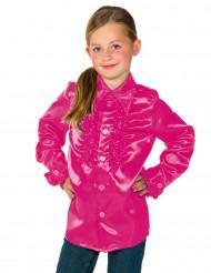 Rosa barnskjorta med krås