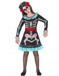 Calavera - Dia de los Muertos kostym för barn