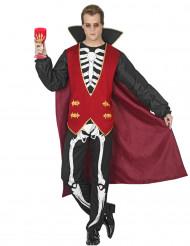 Greve Skelett - Halloweenkostym för vuxna