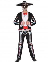 Herr Dia de los Muertos - Halloweendräkt för vuxna