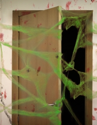 Grönt spindelnät till Halloweenfesten