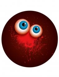 6 kartongtallrikar med ögon 23 cm - Halloweendukning