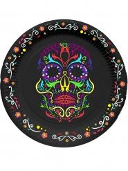 Dia de los Muertos - 6 Kartongtallrikar till Halloween 23 cm
