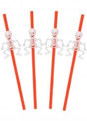 Skelettgänget - 5 sugrör till Halloweendukningen