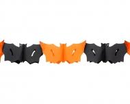 Fladdermusgirlang i orange och svart 3 meter