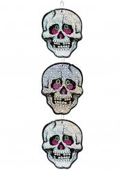 Hängande dödskallar - Halloweendekoration 55 cm