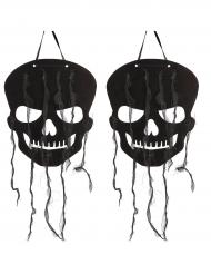 Dödskalledekorationer till Halloweenfesten