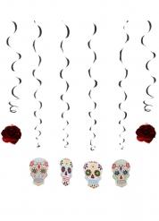 6 mobiler till Dia de los Muertos - Halloweenpynt 120 cm
