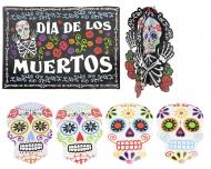 Dia de los Muertos kit med 7 dekorationer