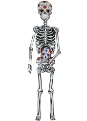 Calavera i kartong - Dia de los Muertos dekor 152 cm