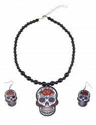 Halsband och örhängen till De dödas dag - Halloweentillbehör