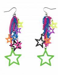 Färggranna stjärnörhängen till festen