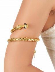 Gyllene orm armband för vuxna till maskeraden