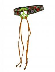 Hippiepannband med peacemärke för vuxna