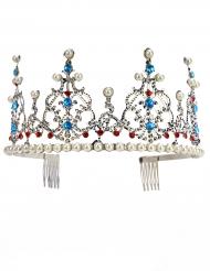 Lyxigt prinsesstiara i silver för vuxna