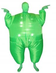 Grön uppblåsbar Morphsuits™-dräkt för vuxna