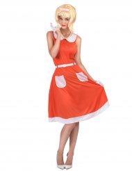Vintage klänning till 50- och 60-talsmaskeraden för vuxna