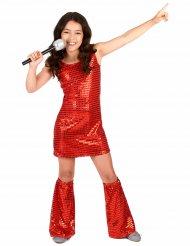Röd discoklänning med benvärmare