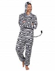 Mysig zebradräkt för vuxna till maskeraden
