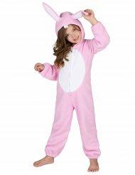 Rosa kaninoverall för barn
