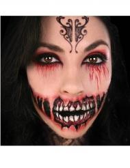 Skräckinjagande demontatuering för ansiktet