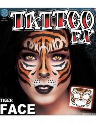 Tiger - Ansiktstatuering för vuxna