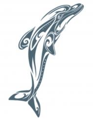 Tatuering för vuxna - Delfin