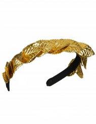 Diadem med lagerblad i guld för vuxna till maskeraden