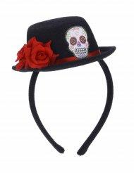 Minihatt på diadem för vuxna i De dödas dag-stil
