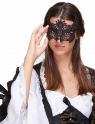 Förtjusande mask i svart spets för vuxna till maskeraden