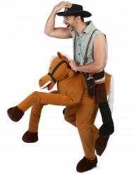 Rider på en häst - Carry me-dräkt för vuxna till maskeraden