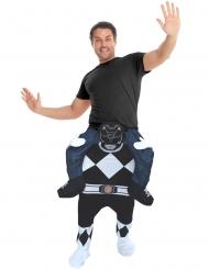 Svart Power Ranger™ som bär dig - Maskeraddräkt för vuxna