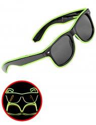 Rockglasögon med lysande kant i grönt för vuxna