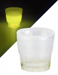 Lysande gult shotglas 50 ml - Partyskoj 50 ml