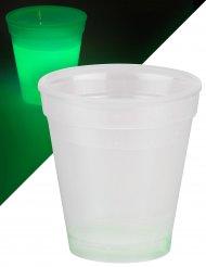 Lysande grönt glas 250 ml - Partydekoration
