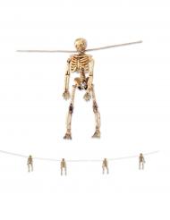 Girlang med små skelett till Halloween