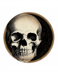 10 tallrikar med dödskalle - Halloweendekoration
