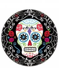 10 Kartongtallrikar i Dia de los muertos-tema
