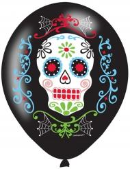 6 Dia de los muertos ballonger till Halloween