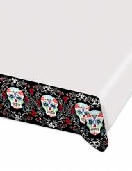 Calaveras - Plastduk i Dia de los Muertos-stil till Halloween 1,4 x 2,6 m