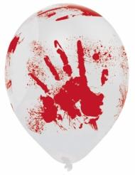 6 blodiga latexballonger - Halloweendekoration