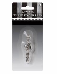 Skelettring för tre fingrar - Halloweentillbehör