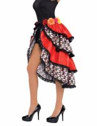 Kjol i Dia de los Muertost-stil - Halloweentillbehör