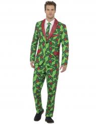 Stilig julkostym med järnek för vuxna