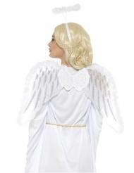 Vitt änglakit med vingar och gloria vuxen